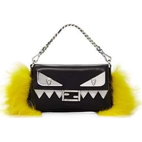 f00cb6ed7b53 NWT Fendi Micro Monster Bag Bugs Baguette  1